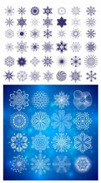 snow Craft graphic pattern about winter snowflakes material