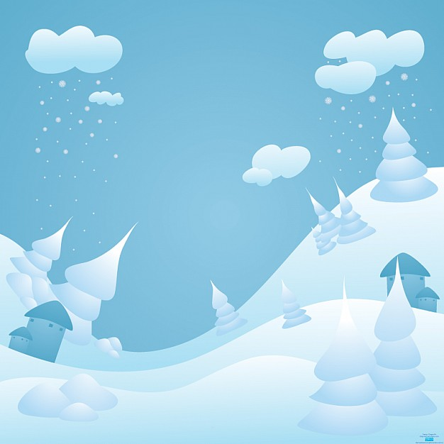 snow landscape e card about winter snow scene Templates