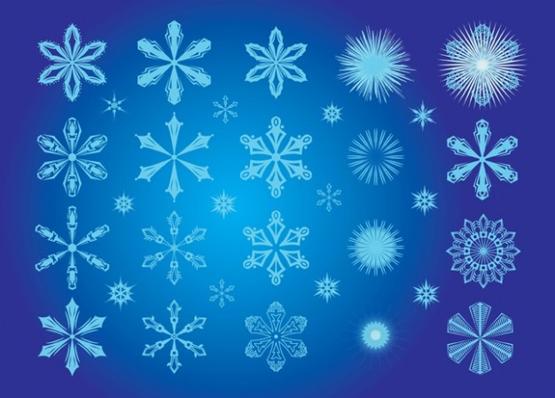 snowflake art over blue background