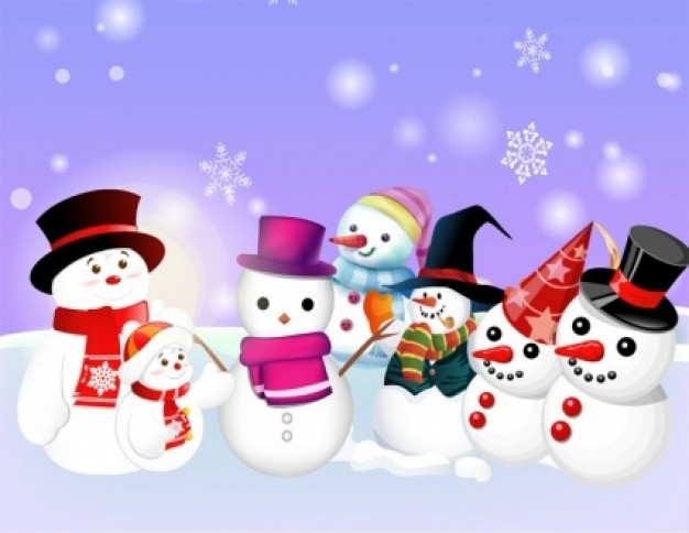 Snowman Christmas bunch about Holidays elements