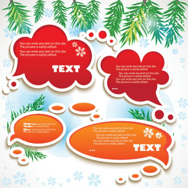 Speech texture orange Sticker and red speech bubbles about Arts Animation