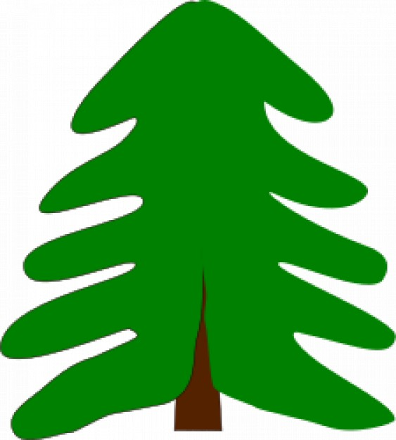 spruce Wood Clip art about Abstract Christmas tree