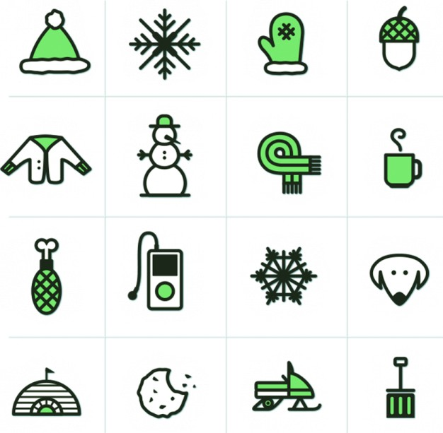 winter Desktop Customization icons about web icon design