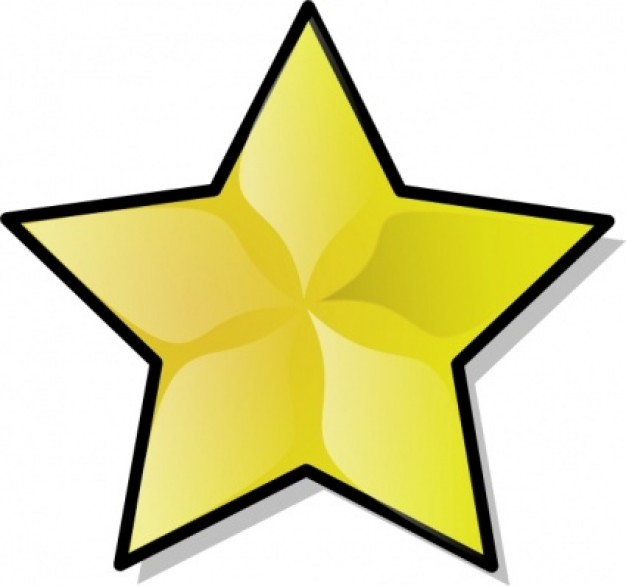 yellow star Christmas clip art about figure doodle