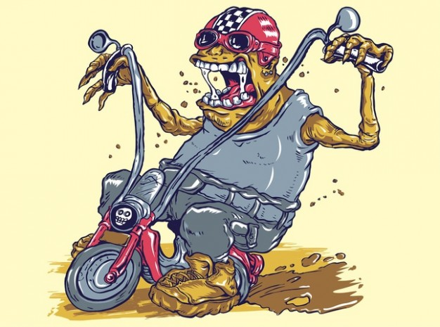 Cycling monster Sports on bike dirty drive illustrations about United States Mountain Biking