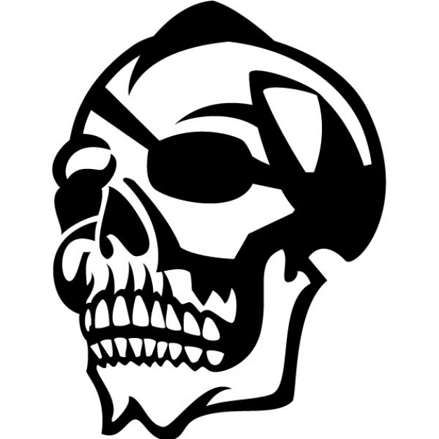 Halloween skull Eyepatch with eyepatch illustration background about Holiday Opinions