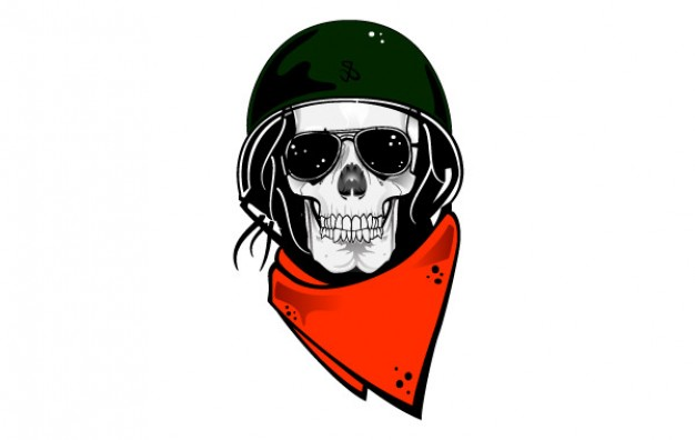 Halloween skull Scarf with military helmet background about Shopping Skull