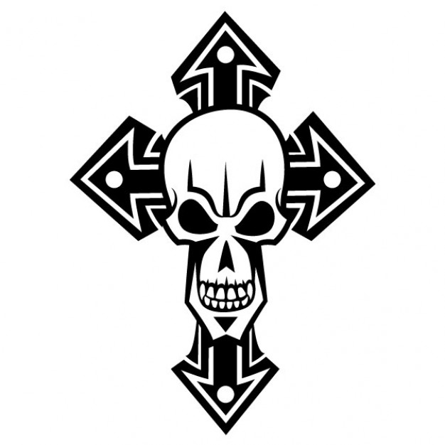 Halloween white Holiday skull in black cross about Opinions Graphics