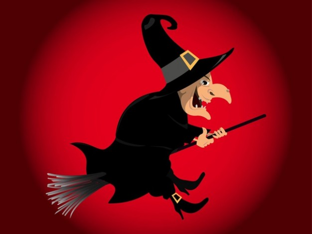 Pointed hat flying Halloween witch magical pointy hat vectors about Fairy tale Witchcraft