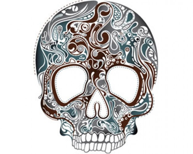 Arts stock Illustration skull with white background about Skull art