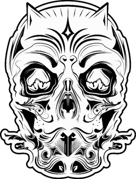 Black-and-white ff Photography devil skull black and white about Photographers Arts
