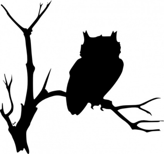 Clip art owl clip art with branch background about TinEye Creative Commons
