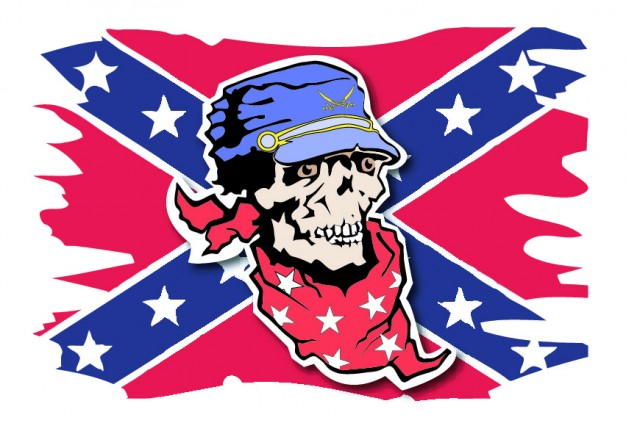confederate Flag with skull background about Skull Wars