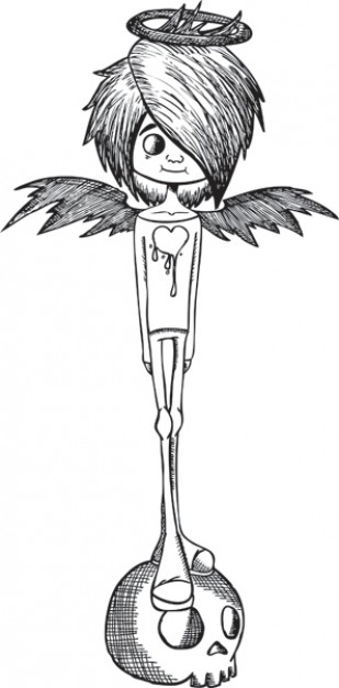 Don Mitchell angel Ironside with black and white about clip art