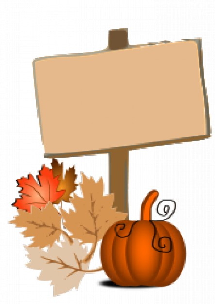 fall clip art with leaves lable pumpkin background