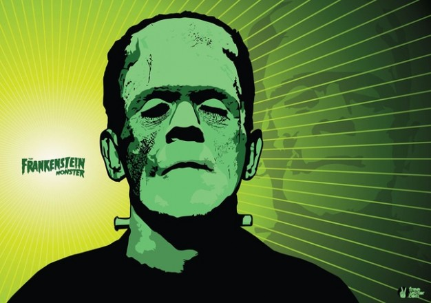Frankenstein wallpaper Mary Shelley of frankenstein with green background about Victor Art