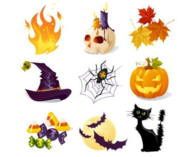 Halloween creative Jack-O-Lantern halloween theme icons about halloween Holidays Trick or Treat