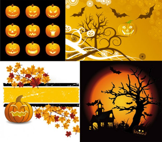 Halloween Holiday illustration material with orange background about Opinions Graphics