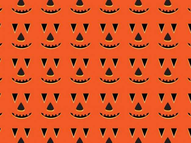 Halloween Jack o'Lantern cartoon pumpkin pattern with orange background about Pumpkin Holidays