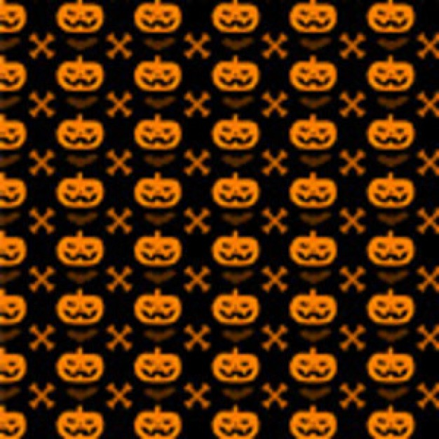 Halloween Pumpkin cross bone pattern about Holiday halloween pattern