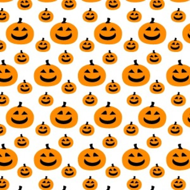 Halloween pumpkin pattern with white background about Fruit and Vegetable