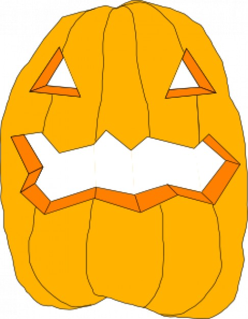 halloween puppkin mask vectors with white background