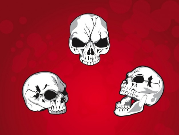 Halloween three Holidays mean skulls with red background about Skull Shopping