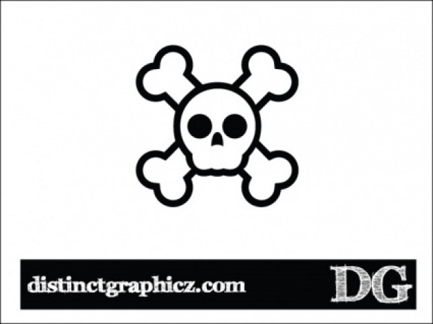 jolly rogers skull with white background