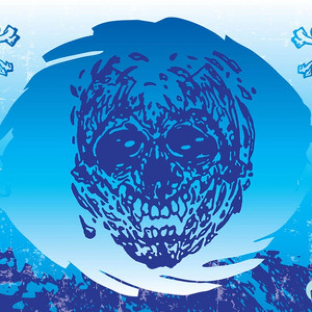 Metallica cool Heavy metal music skull with blue circle background about Music Rock