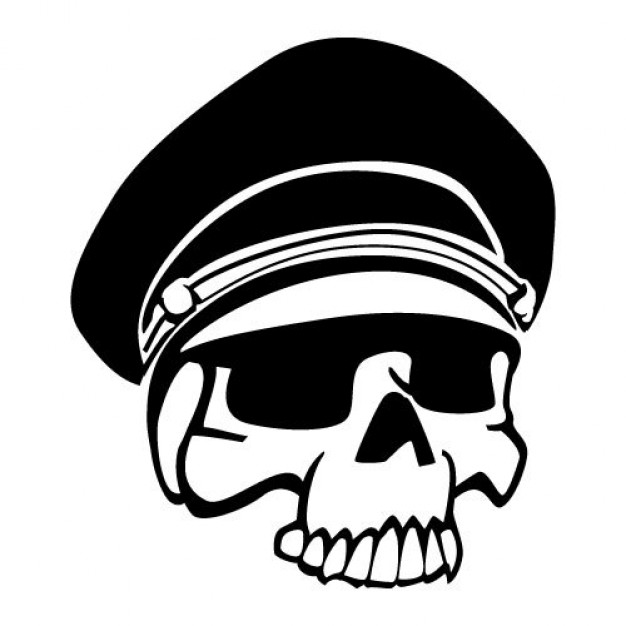 military skull art with hat about South Africa Peru