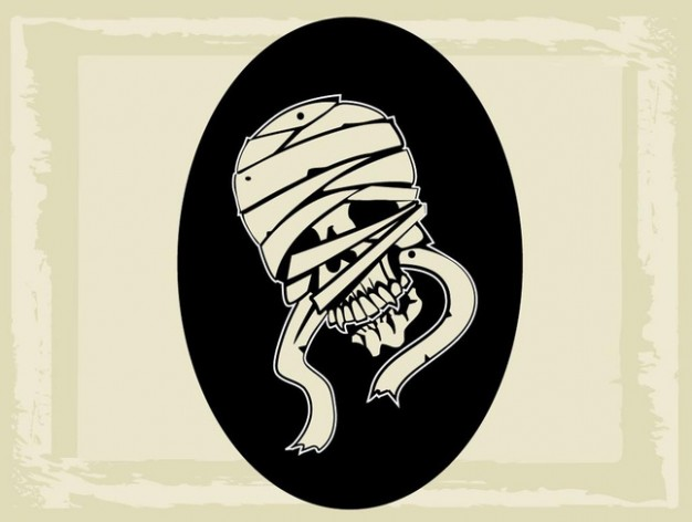 Mummy Egypt graphic creature with dark circle background about AncientEgypt LiveScience