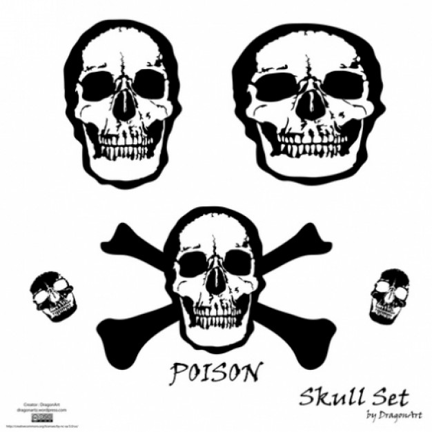 people skull set with white background