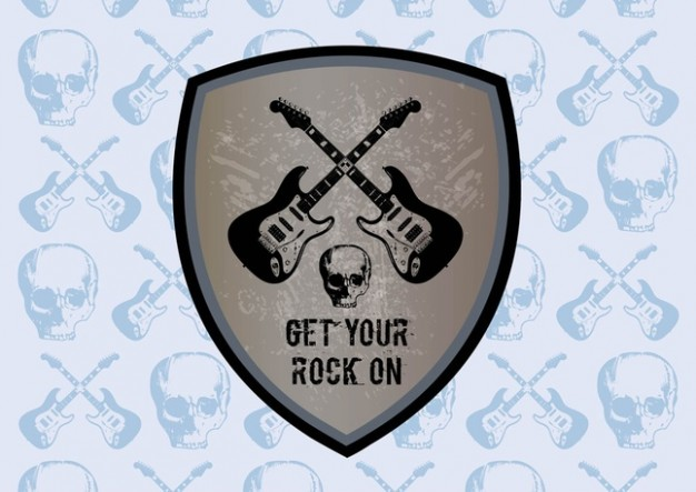 rock Canada graphics shield with guitar about Music Camp Jam Co.