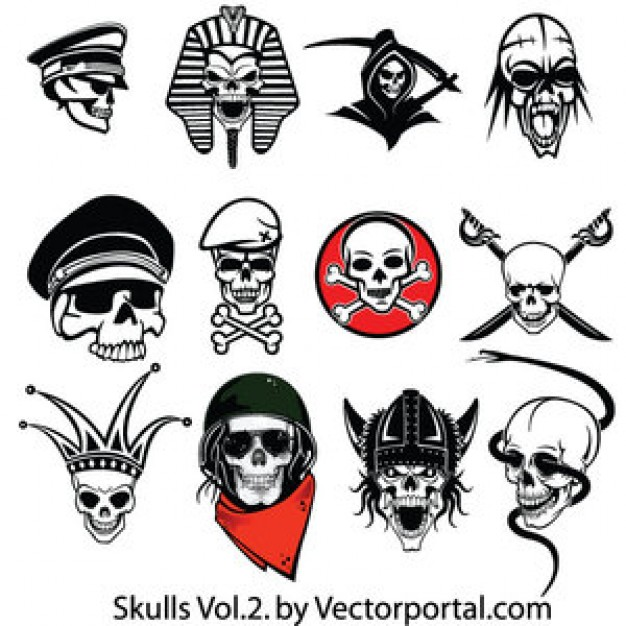Skull custom Art outline skulls with different style about Shopping Paleontology