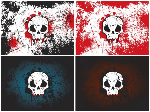 skull wallpaper with blood background for Halloween