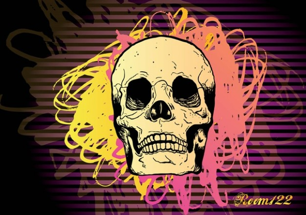 Subculture skull Gothic with lines background about Goth Art
