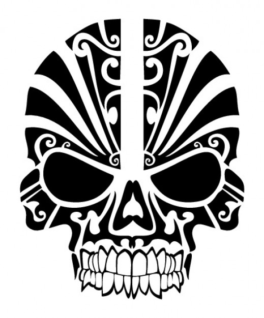 Tattoo skull Bodyart tribal mask tatoo about art Studios