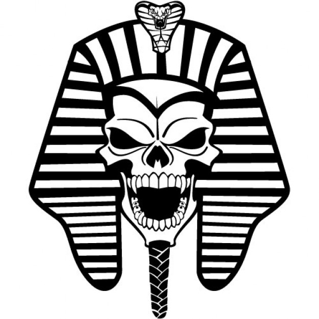 the egyptian pharaoh avatar front view silhouette material