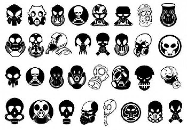 trend mask element material with monster skull character