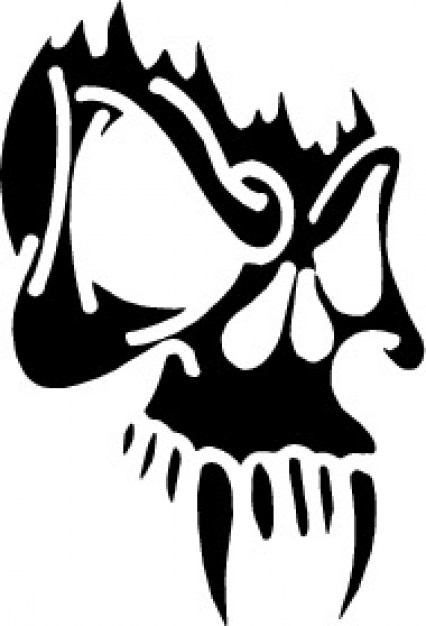 Vector graphics skull Adobe Photoshop mask with teeth about Adobe Illustrator Graphics