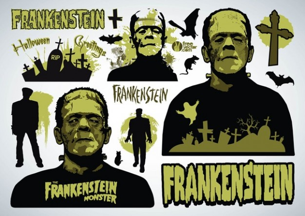 Victor Frankenstein halloween Frankenstein design of frankenstein with grey background about Mary Sh