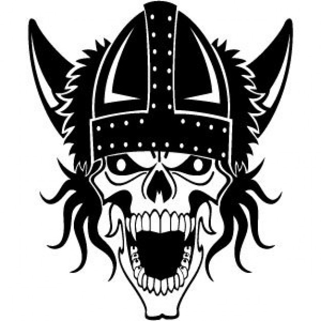 Viking History skull about Middle Ages Archaeology